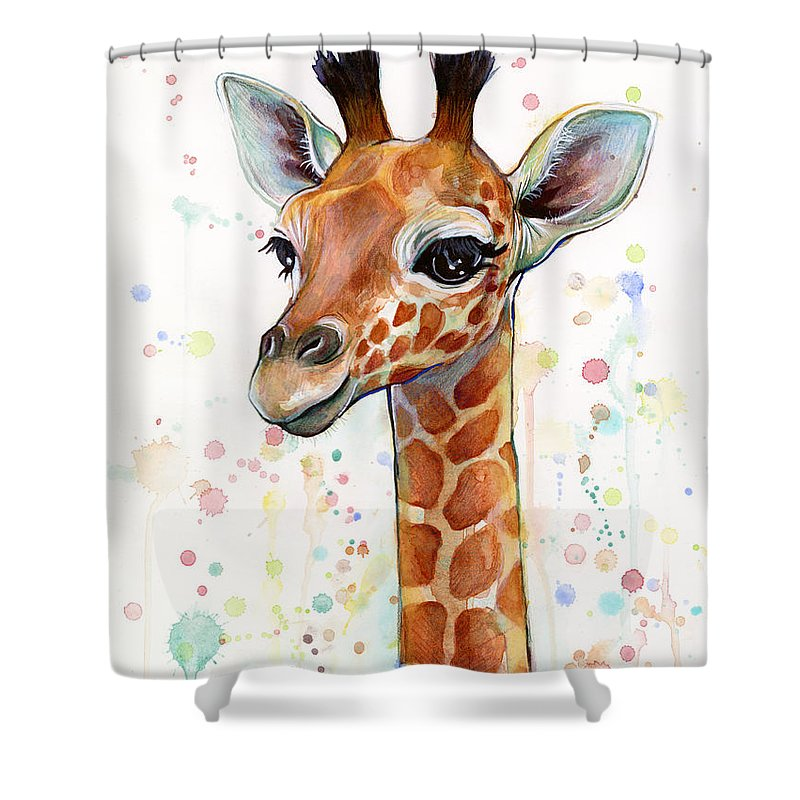 Awesome Giraffes Shower Curtains