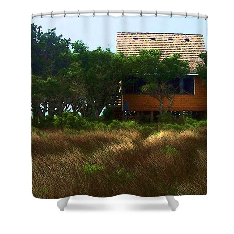 Beach Shower Curtain featuring the photograph Back To The Island by Debbi Granruth