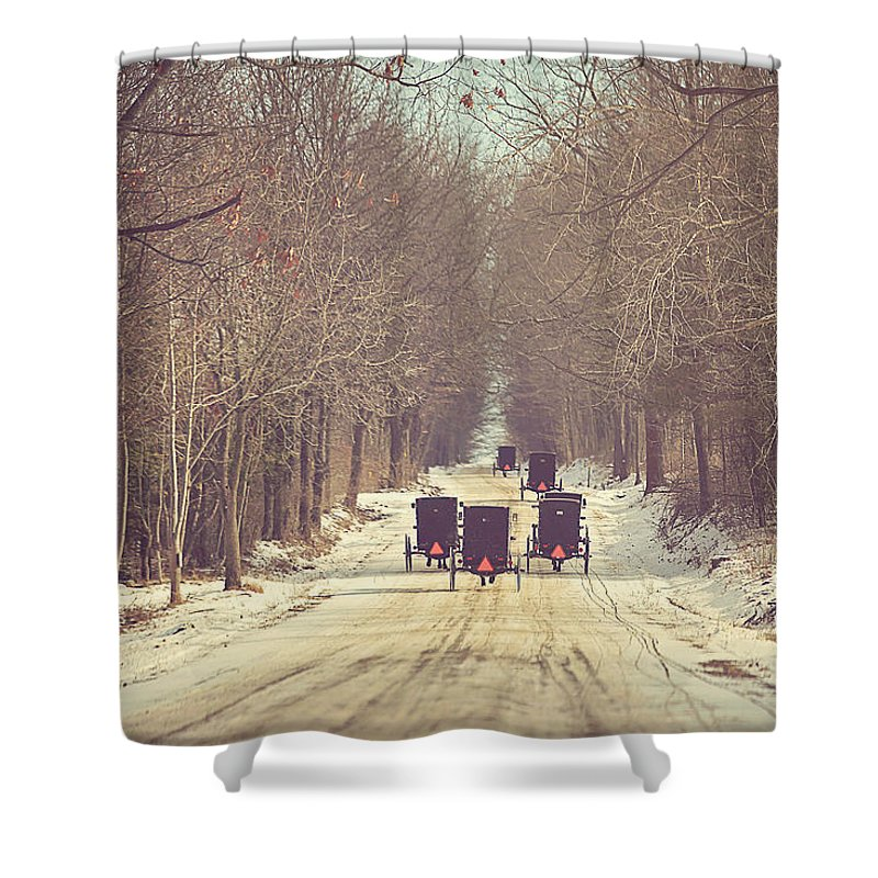 Amish Buggy Shower Curtains