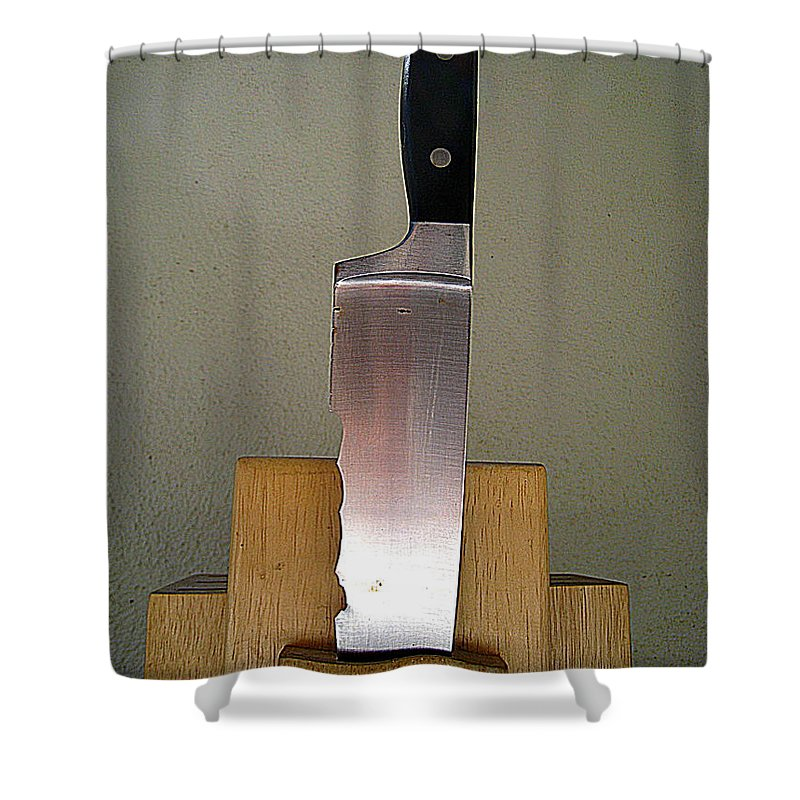 Knives Shower Curtain featuring the photograph Bad To The Bone But Seen Better Days by John King