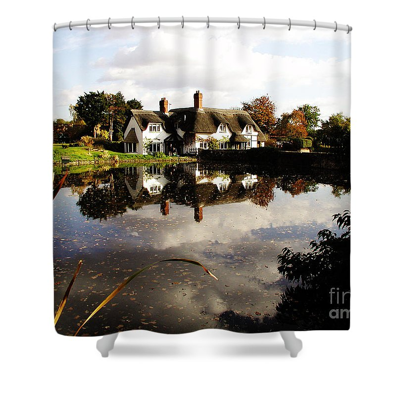 England Shower Curtain featuring the photograph Badger House by Neil Finnemore