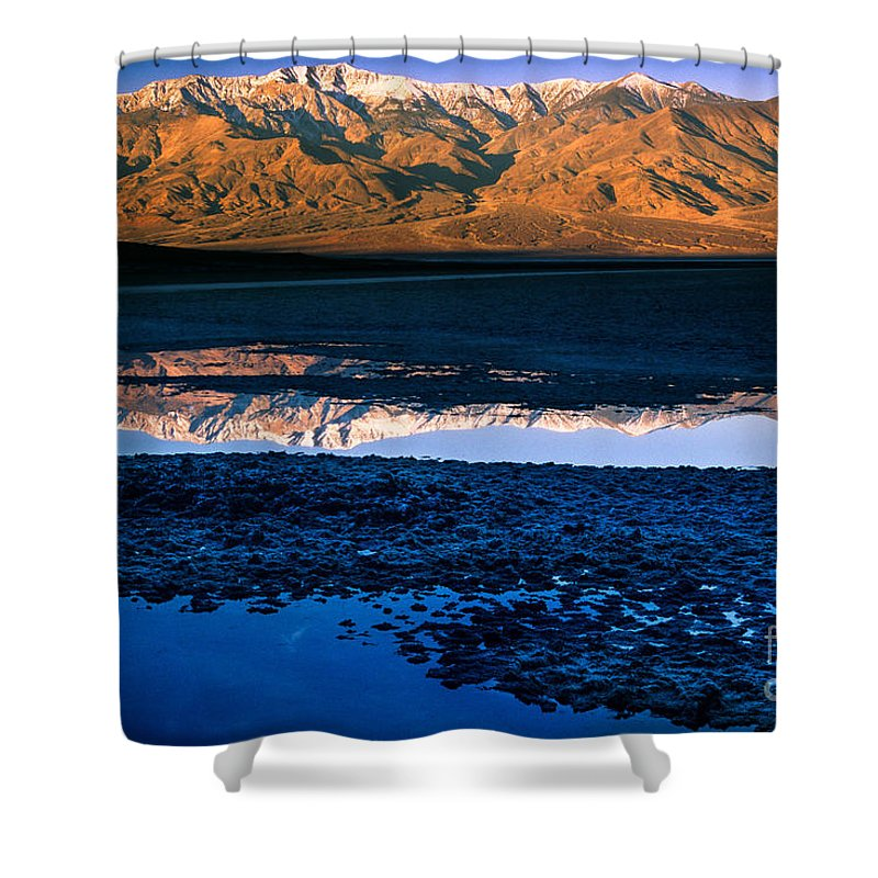 America Shower Curtain featuring the photograph Badwater by Inge Johnsson