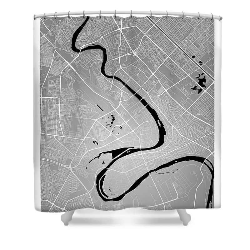 road map shower curtain featuring the digital art baghdad street map baghdad iraq road map