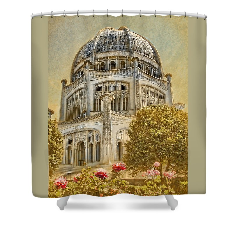 Architecture Shower Curtain featuring the photograph Baha'i Temple In Wilmette by Rudy Umans