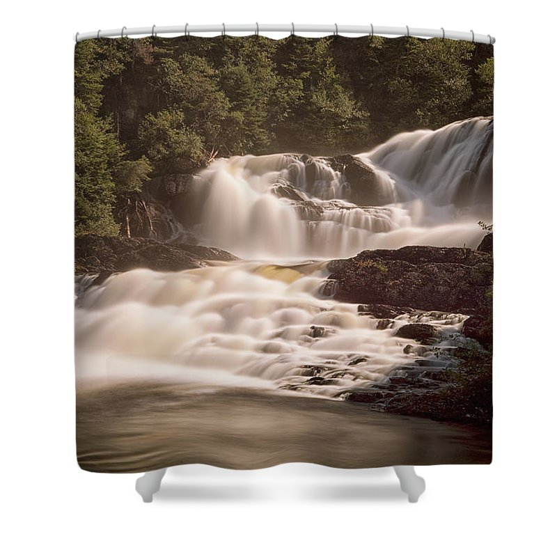 Waterfalls Shower Curtain featuring the photograph Bakers Brook Falls by Eunice Gibb