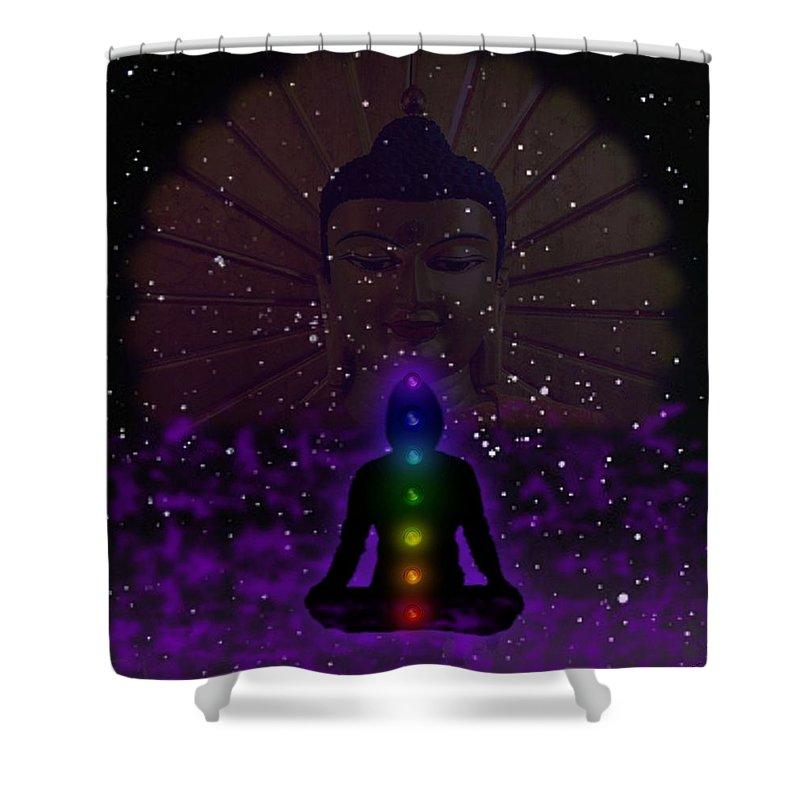 Balance Shower Curtain featuring the digital art Balanced Teacher by Michael Hurwitz