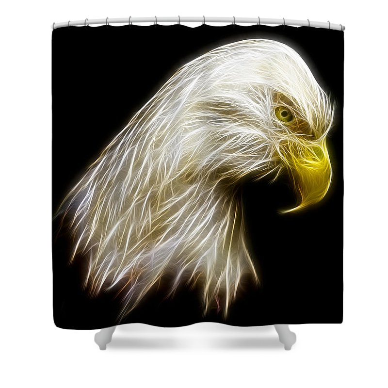 3scape Photos Shower Curtain featuring the photograph Bald Eagle Fractal by Adam Romanowicz