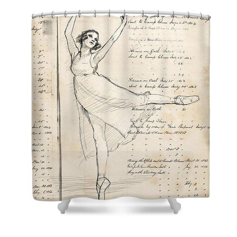 Ballet Shower Curtain featuring the digital art Ballet by H James Hoff