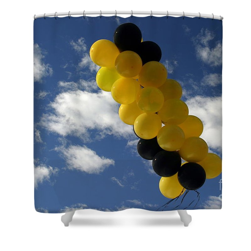 Air Shower Curtain featuring the photograph Balloons by Henrik Lehnerer