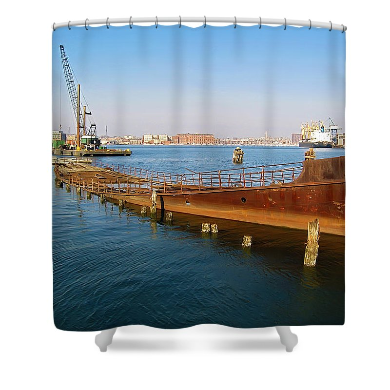2d Shower Curtain featuring the photograph Baltimore Museum Of Industry by Brian Wallace