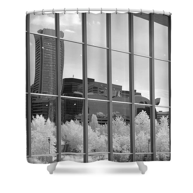 Baltimore Shower Curtain featuring the photograph Baltimore Skyline by John Cardamone