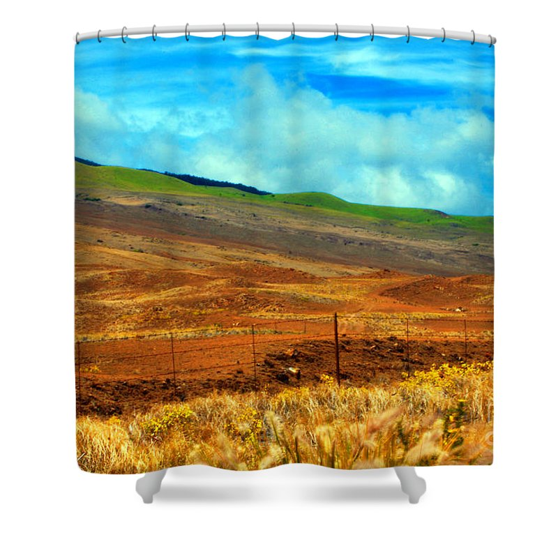 Barbed Wire Shower Curtain featuring the photograph Barbed Wire Fence by Paulette B Wright