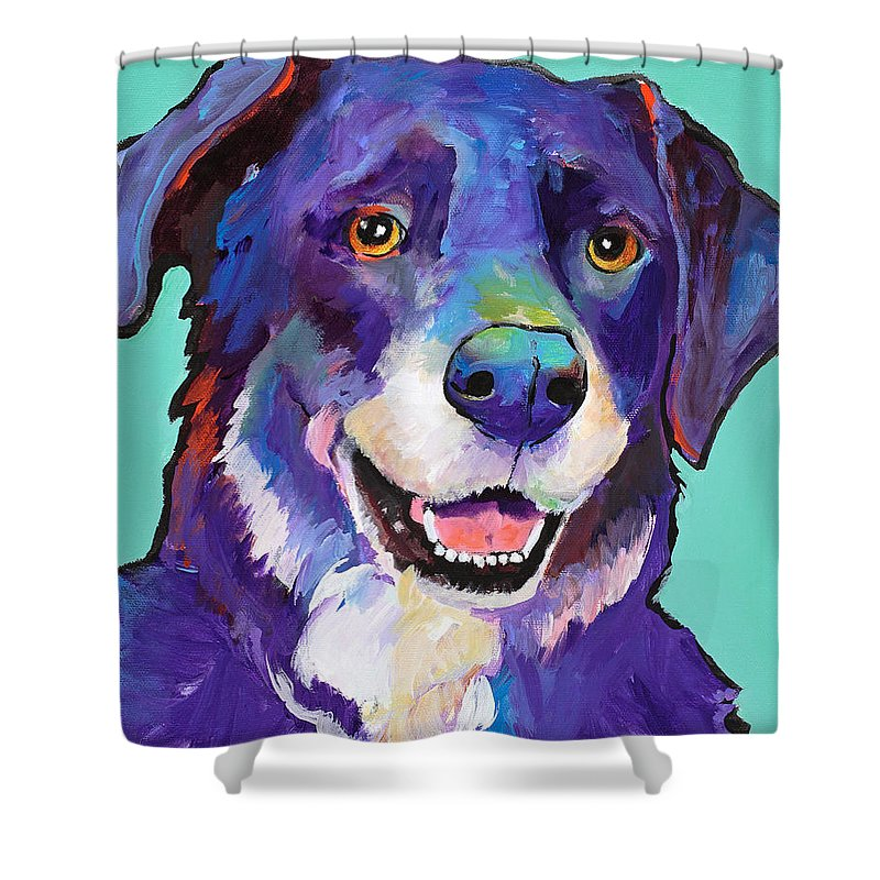Pat Saunders-white Shower Curtain featuring the painting Barkley by Pat Saunders-White