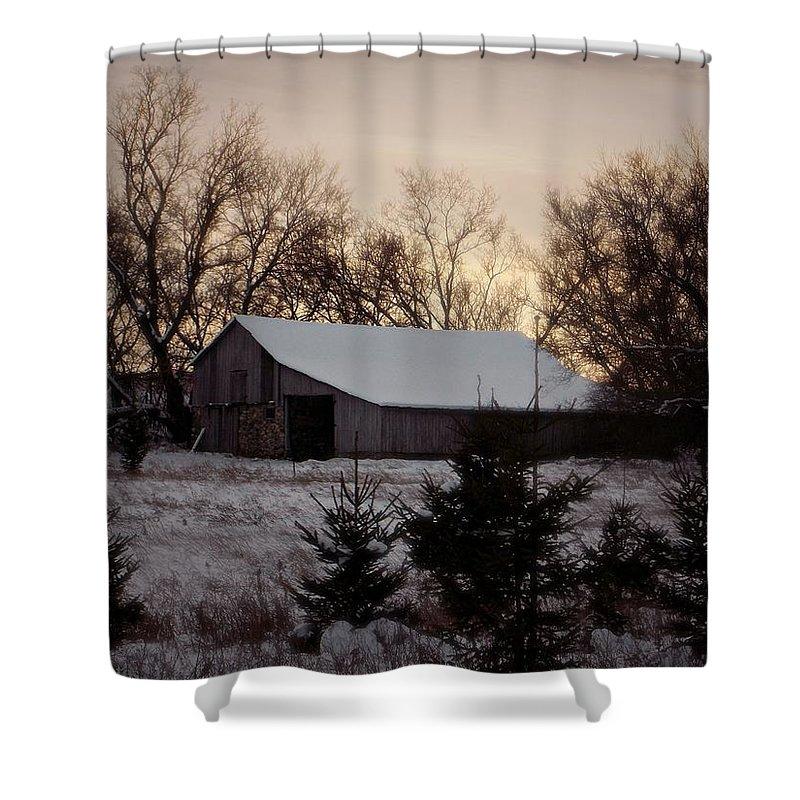 Barn Shower Curtain featuring the photograph Barn Wood by Belinda Olivastri