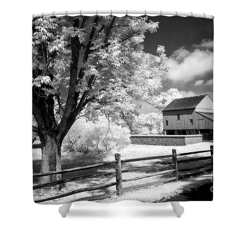 Barn Shower Curtain featuring the photograph Barn Yard by Paul W Faust - Impressions of Light