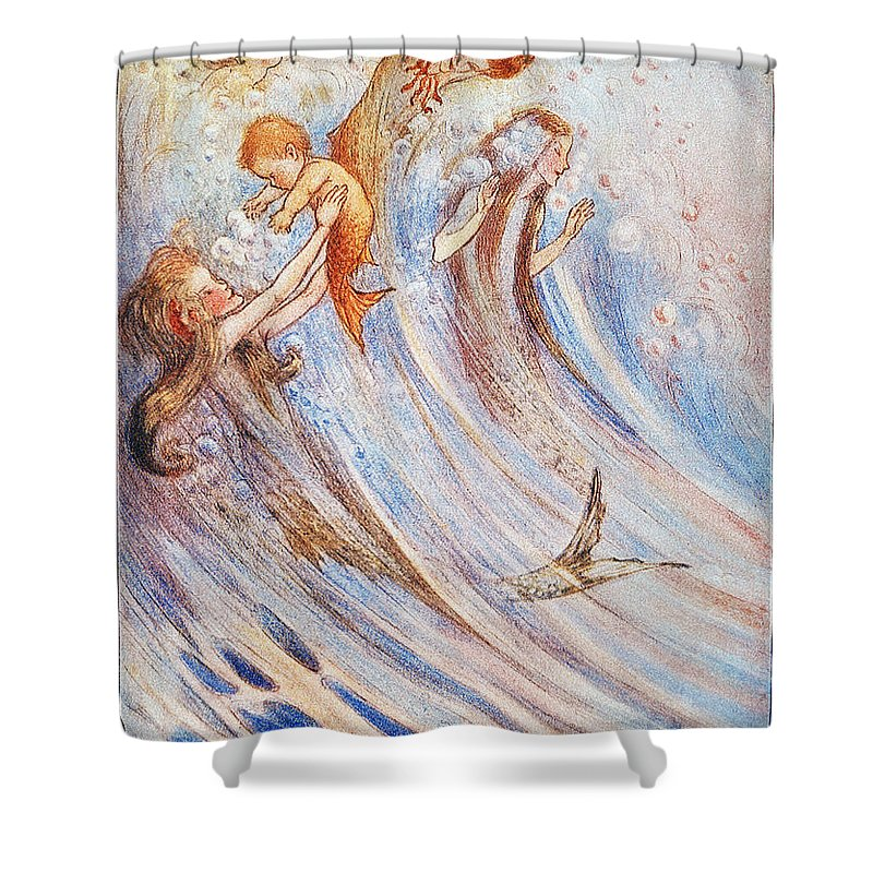 20th Century Shower Curtain Featuring The Photograph Barrie Peter Pan By Granger
