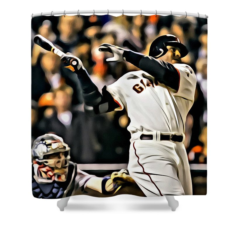 Barry Bonds Painting Shower Curtain