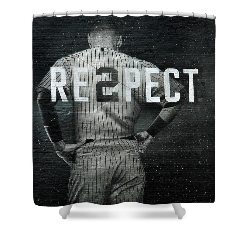 Yankees Shower Curtain featuring the photograph Derek Jeter Ny by Jewels Hamrick