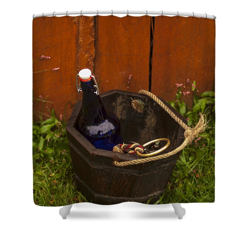 Pail Shower Curtain featuring the photograph Basket Of Goodies by Pablo Rosales