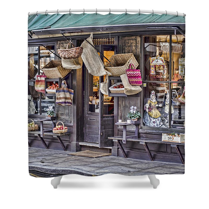 Basket Shower Curtain featuring the photograph Baskets For Sale by Heather Applegate