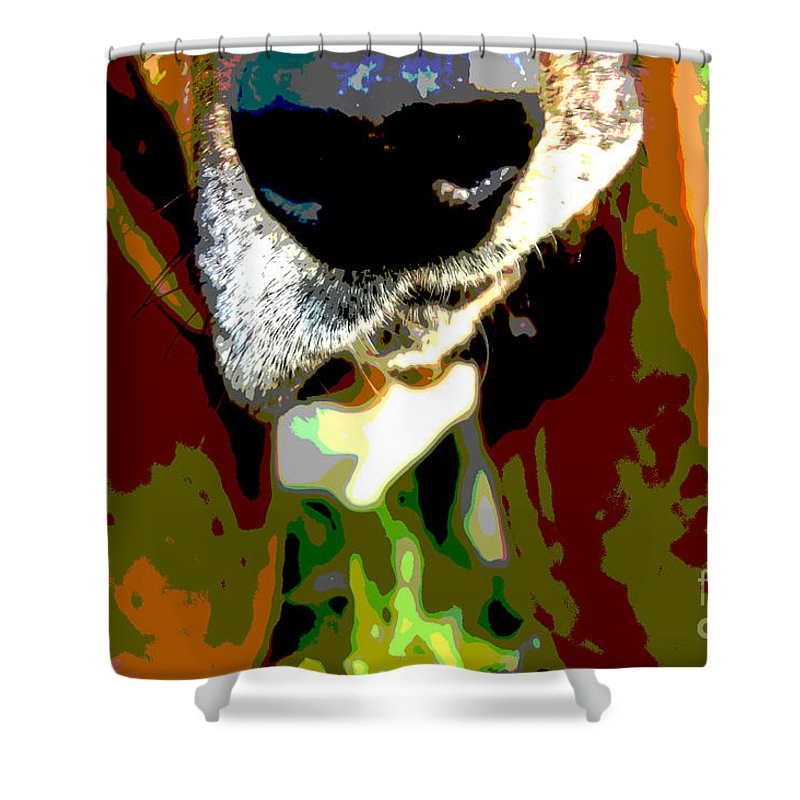 Basset Hound Close Up Shower Curtain featuring the photograph Basset Hound -all Nose And Ears2 by Heather Gosnell