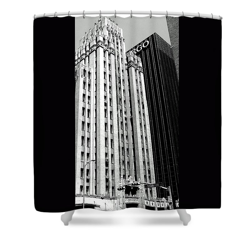 Bassett Shower Curtain featuring the photograph Bassett Tower By Henry C Trost by M Pace