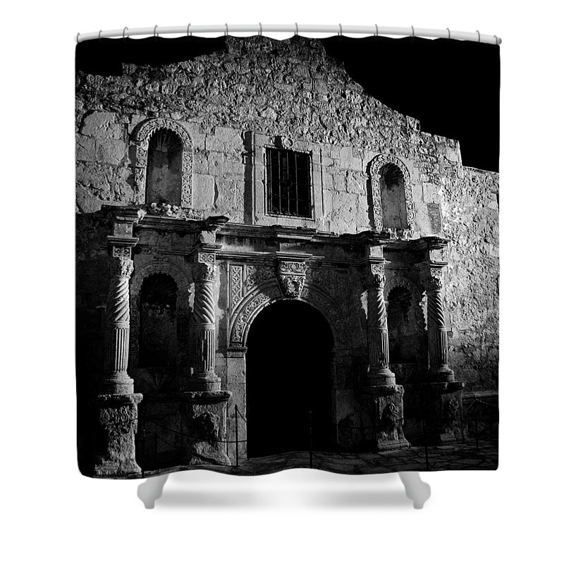 The Alamo Shower Curtain featuring the photograph Bastion Of Legends by Mountain Dreams