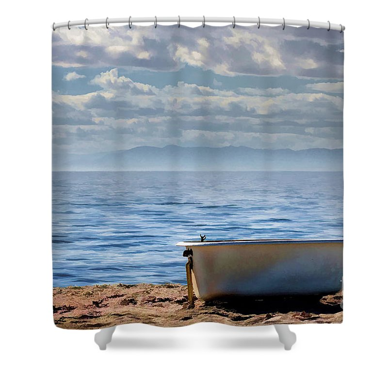 Bathtub Shower Curtain featuring the photograph Bath On The Beach by Patrice Dwyer