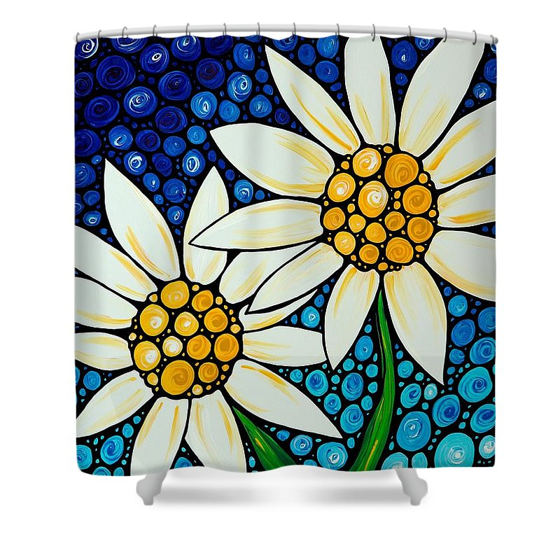 Daisy Paintings Shower Curtains