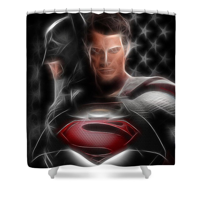 Superman Shower Curtain Featuring The Photograph Batman Vs By Doc Braham