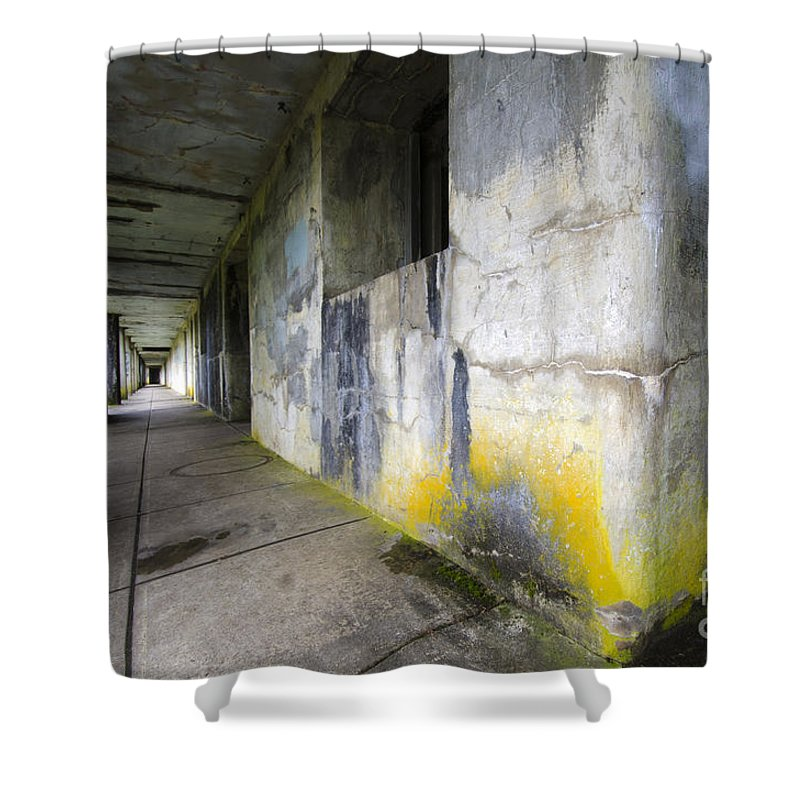 Battery Russell Shower Curtain featuring the photograph Battery Russell Oregon 1 by Bob Christopher