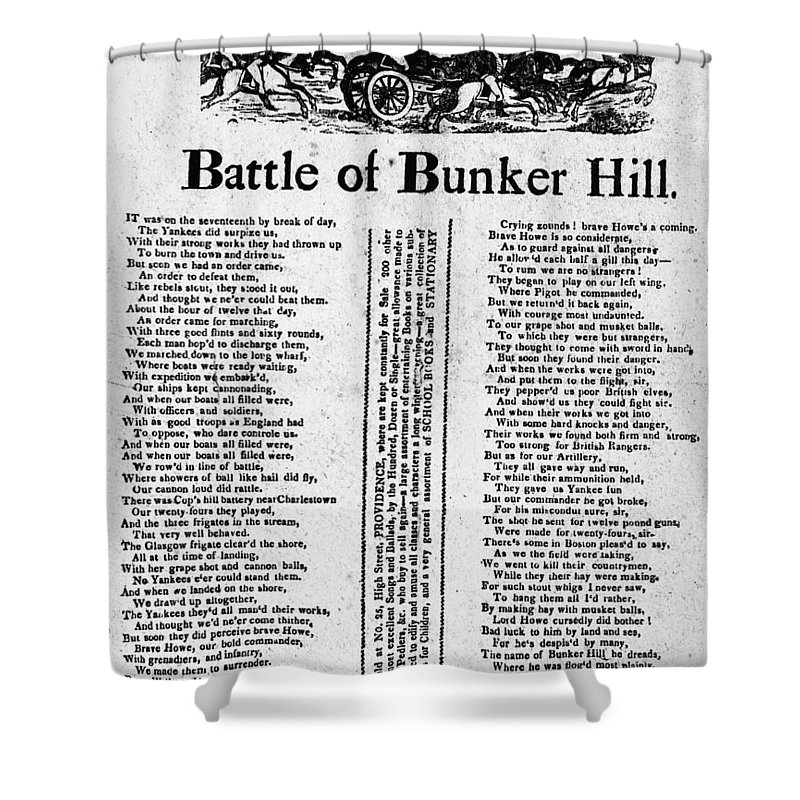 1775 Shower Curtain featuring the photograph Battle Of Bunker Hill by Granger