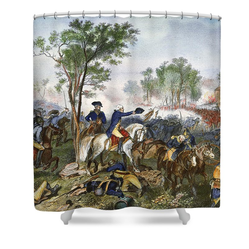 1781 Shower Curtain featuring the photograph Battle Of Eutaw Springs by Granger