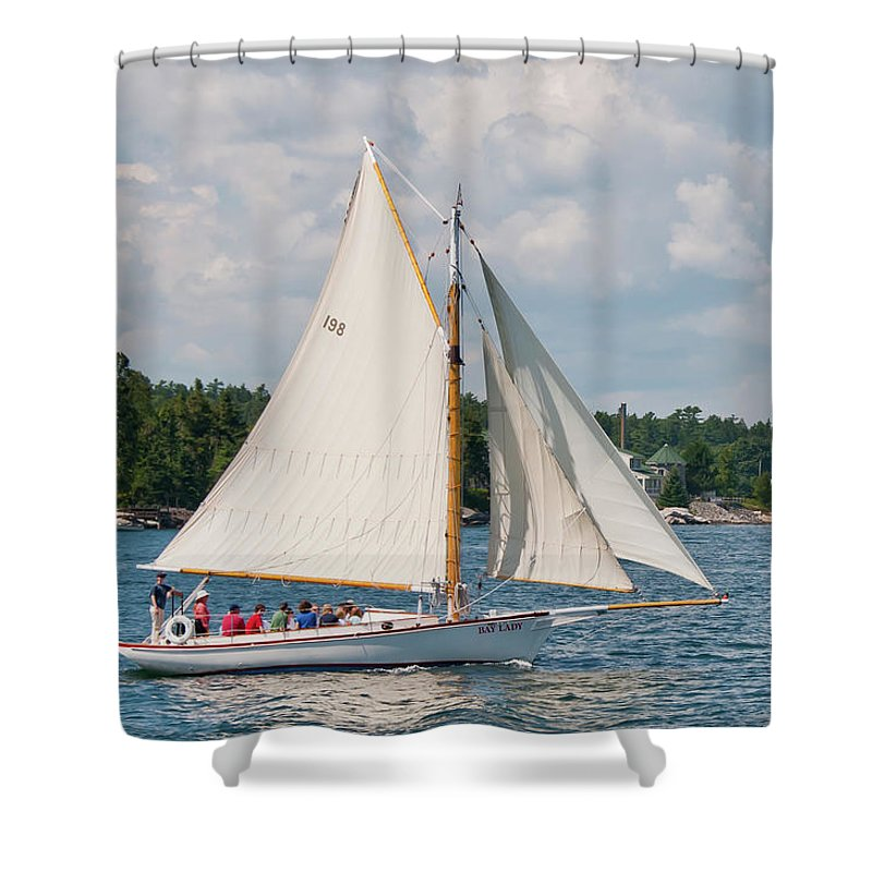 Boat Shower Curtain featuring the photograph Bay Lady 1270 by Guy Whiteley