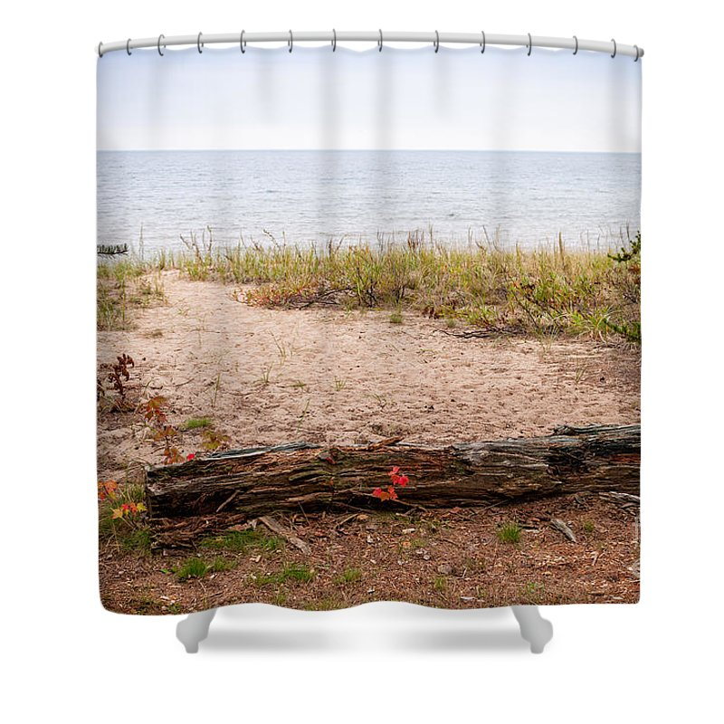 North Shower Curtain featuring the Beach Path by Les Palenik