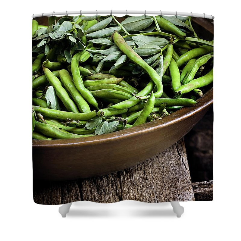 Outdoors Shower Curtain featuring the photograph Beans by Bruno Ehrs