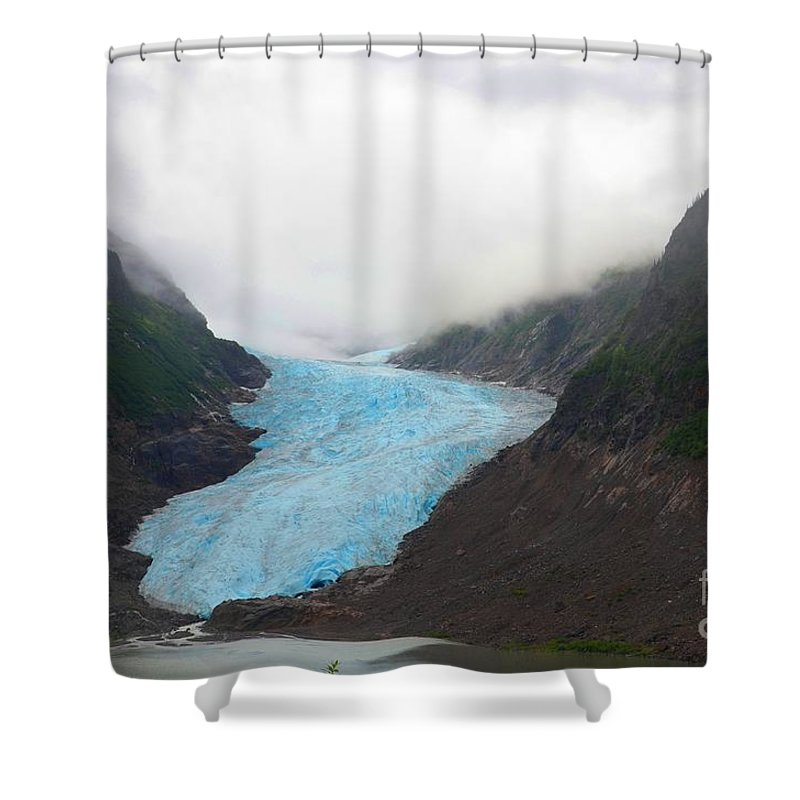 Glacier Shower Curtain featuring the photograph Bear Glacier by Deanna Cagle