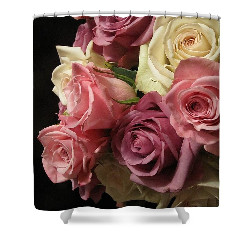 Floral Shower Curtain featuring the photograph Beautiful Dramatic Roses by Tara Shalton