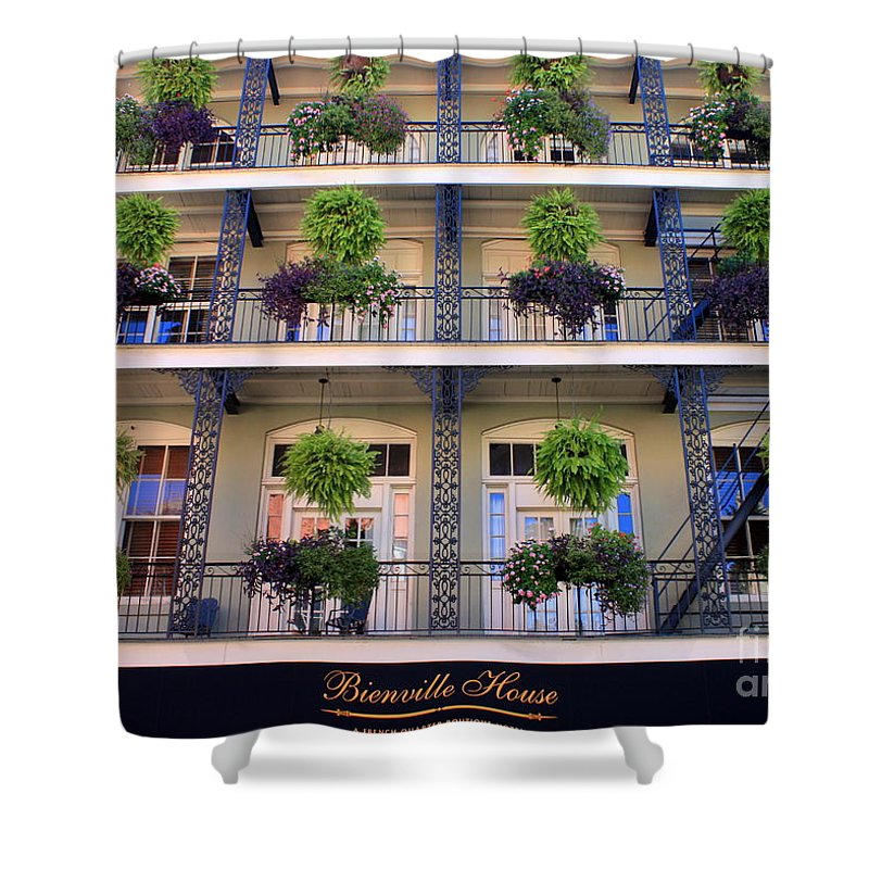 New Orleans Shower Curtain featuring the photograph Beautiful Hotel In New Orleans by Carol Groenen