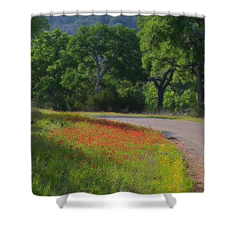 Texas Shower Curtain featuring the photograph Beautiful Light On The Loop by Lynn Bauer