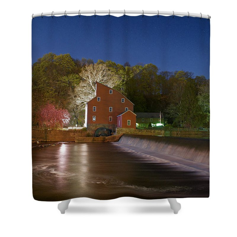 Water Shower Curtain featuring the photograph Beautiful Night by Ryan Crane