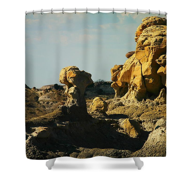 New Mexico Shower Curtain featuring the photograph Beautiful Red Rock by Jeff Swan