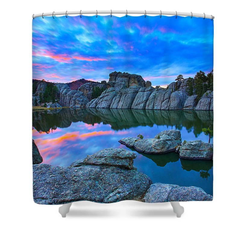 South Dakota Shower Curtain featuring the photograph Beauty After Dark by Kadek Susanto