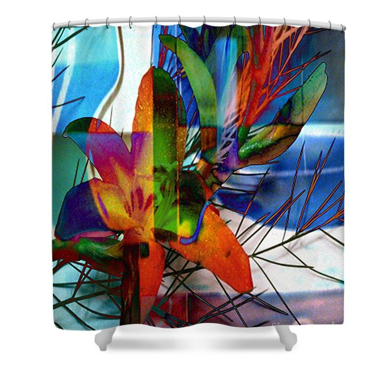 Digital Image Shower Curtain featuring the digital art Beauty by Yael VanGruber