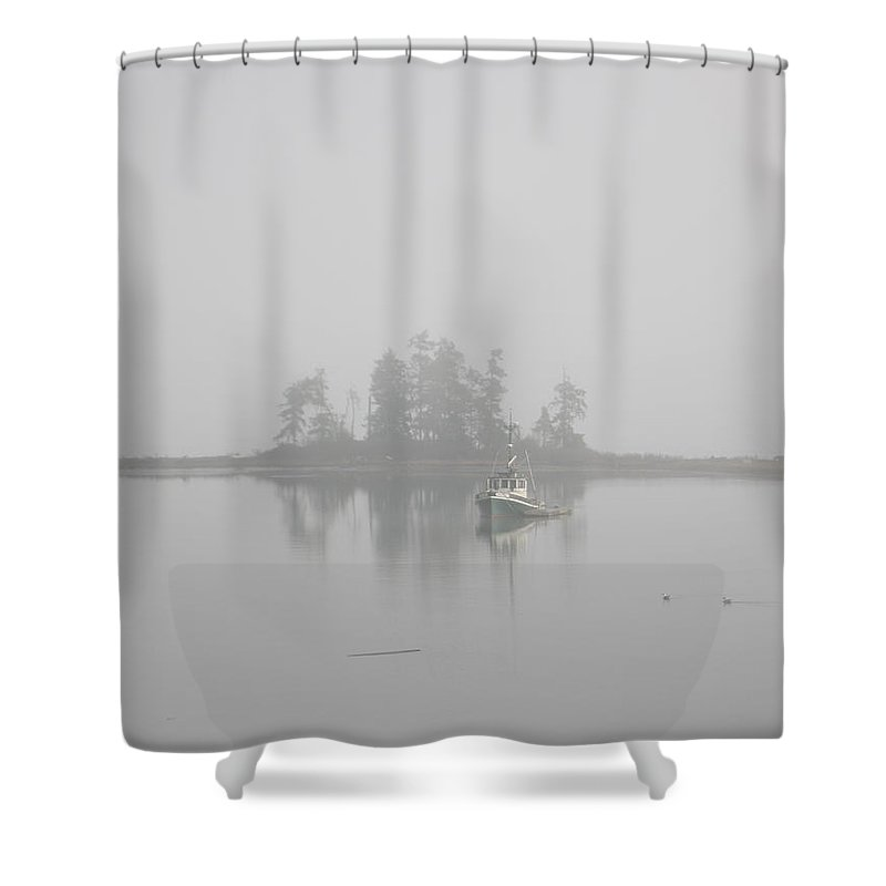 Landscape Shower Curtain featuring the photograph Becalmed by Carlene Salazar