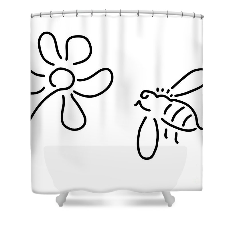 Nature Bee Shower Curtains