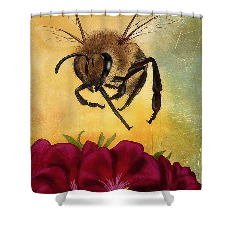 Honey Bee Shower Curtains