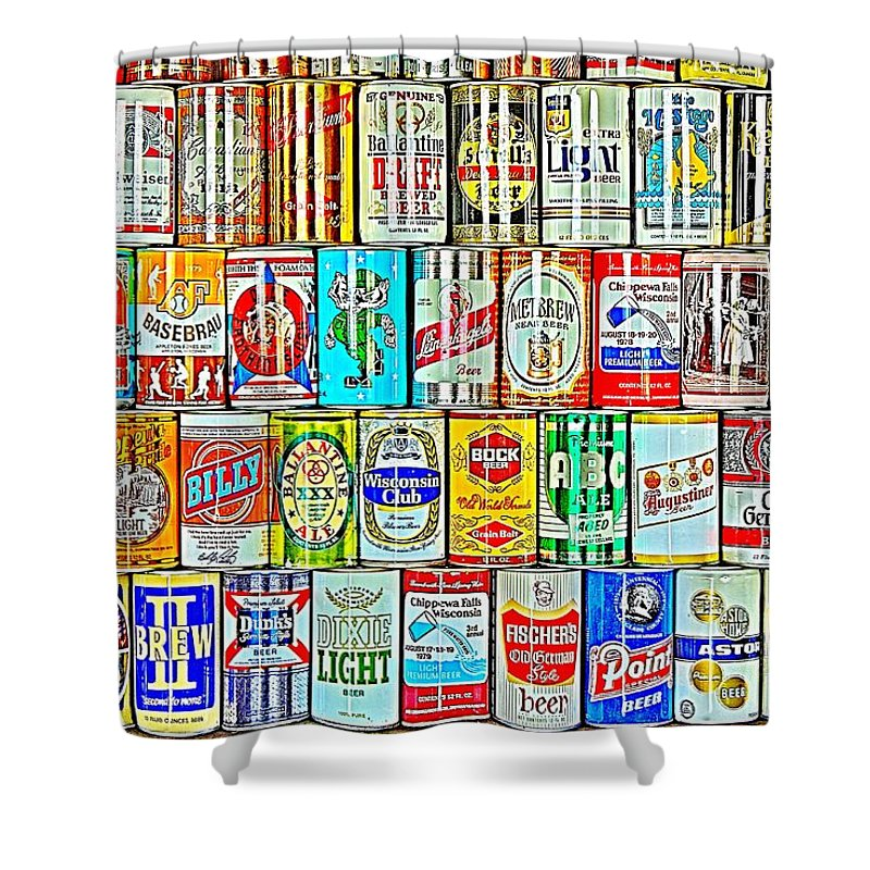 Beer Shower Curtain featuring the photograph Beer Me by Benjamin Yeager