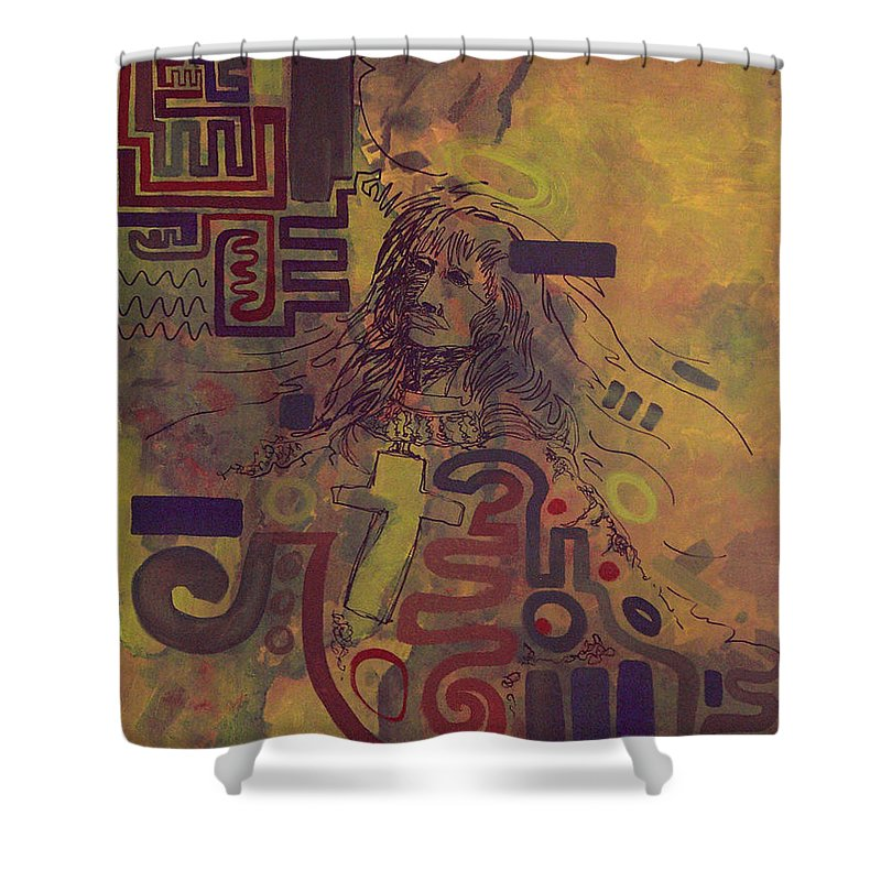 Abstract Shower Curtain featuring the painting Before And After by Tonya Henderson