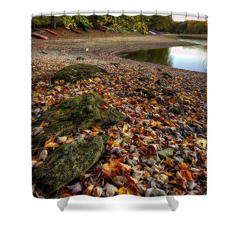 Autumn Shower Curtain featuring the photograph Before You Know It by Edward Kreis